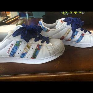 Adidas Superstar Floral Shelltops size 7.5